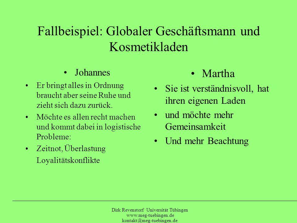 Dirk Revenstorf Universität Tübingen www.meg-tuebingen.de kontakt@meg-tuebingen.de Drei Entwicklungs-Aufgaben A) Rücknahme der Delegation Z.B.: Ordnungsfähigkeit und Entscheidungsfähigkeit statt: SIE: Ordnungsfähigkeit oder ER: Entscheidungsfähigkeit (Polarisierung) B) Differenzierung Die Bestätigung für die eigene Präferenz nicht vom anderen abholen, sondern sich selbst geben ohne den Bezug zum anderen aufzugeben C) Liebevolles Annehmen (des Schützlings): Fürsorgliche Reaktionen im Sinne der idealen Prägung (s.o.)