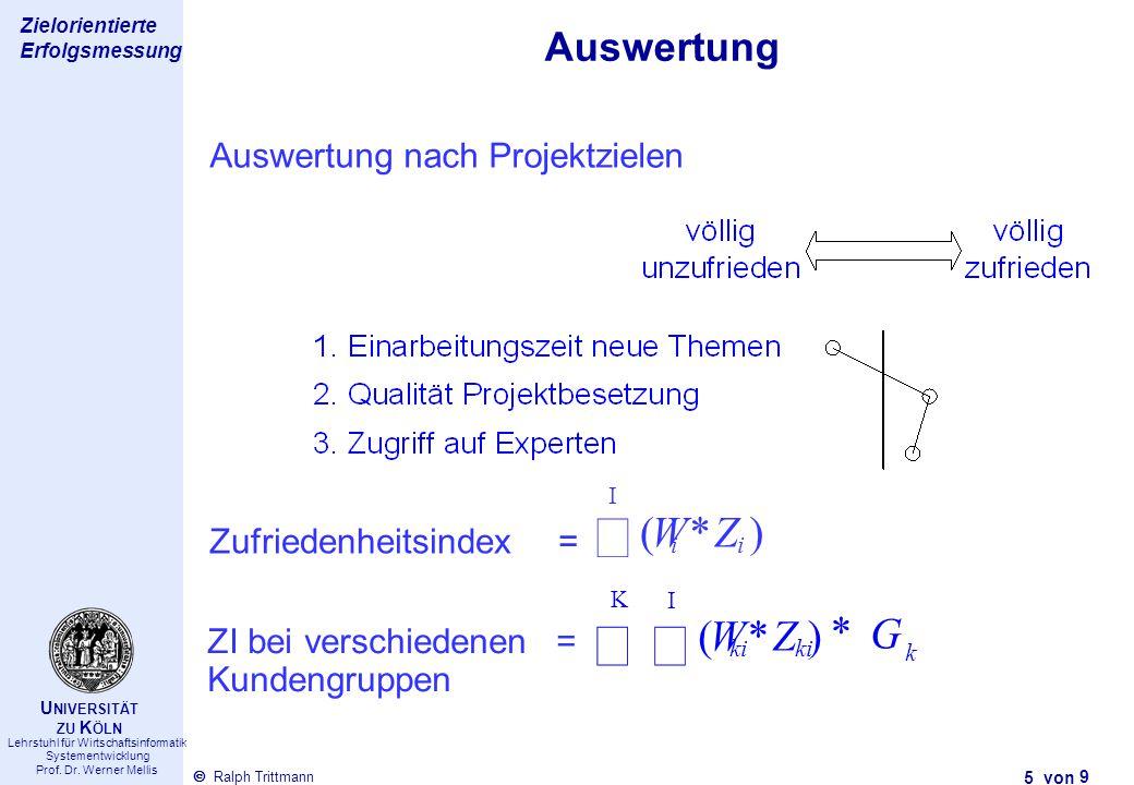 Thema des Vortrags 5 von Ralph Trittmann  Lehrstuhl für Wirtschaftsinformatik Systementwicklung Prof. Dr. Werner Mellis U NIVERSITÄT ZU K ÖLN Zielori