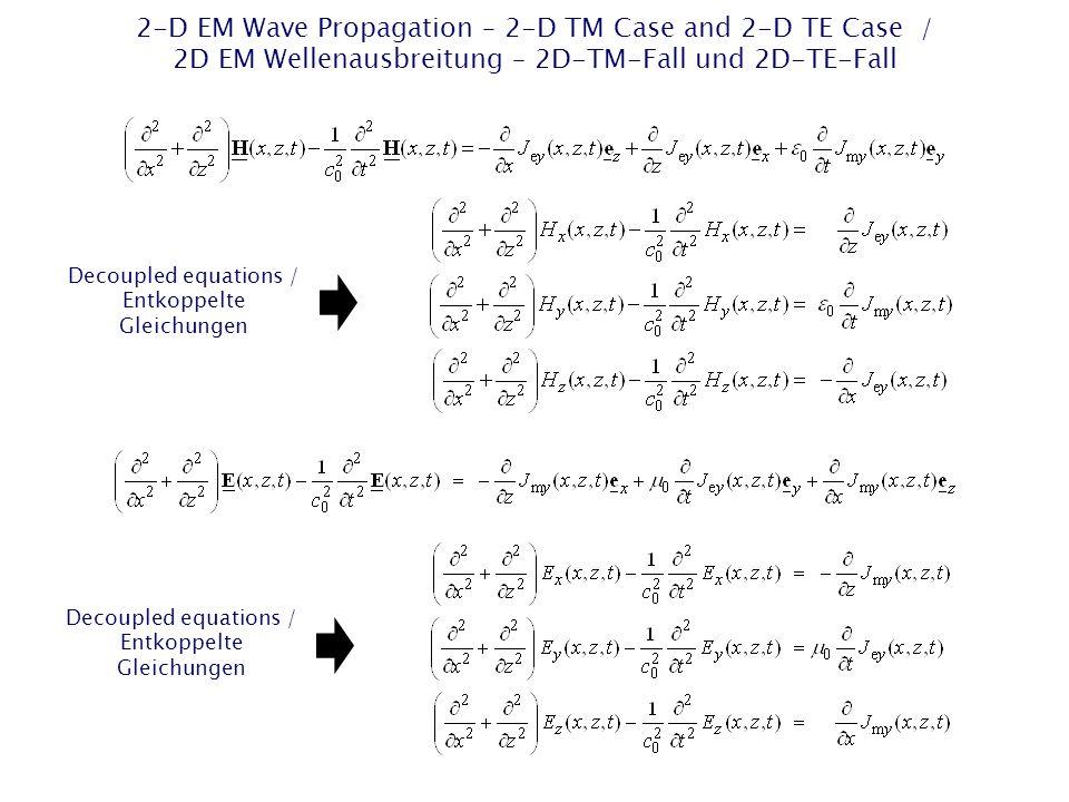 Decoupled equations / Entkoppelte Gleichungen Decoupled equations / Entkoppelte Gleichungen
