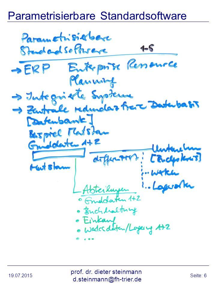 Parametrisierbare Standardsoftware 19.07.2015 prof.
