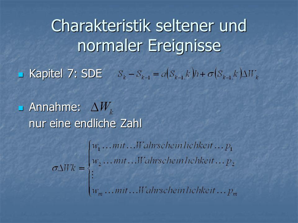 Charakteristik seltener und normaler Ereignisse Kapitel 7: SDE Kapitel 7: SDE Annahme: Annahme: nur eine endliche Zahl nur eine endliche Zahl