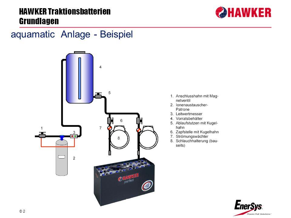 HAWKER Traktionsbatterien Grundlagen © 2012 HAWKER GmbH - FP/Sts FP/Roland Geile aquamatic Anlage - Beispiel