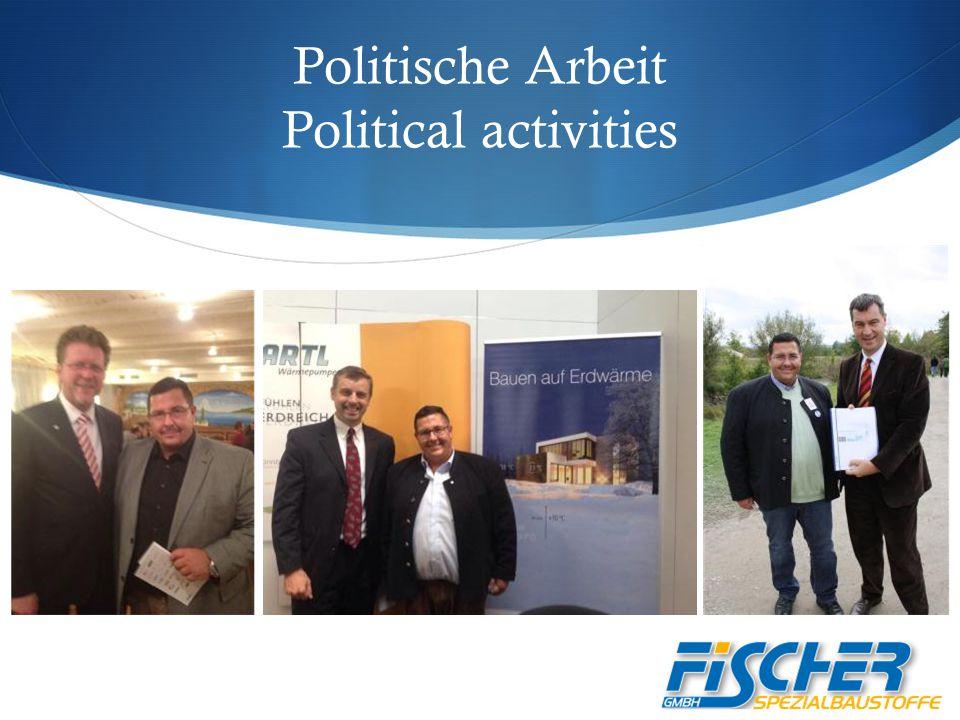 Politische Arbeit Political activities
