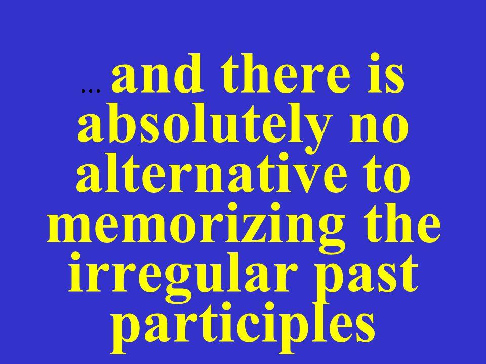 the past participle a.regular verbs: ge + stem + (e)t kaufen: gekauft kosten: gekostet b.