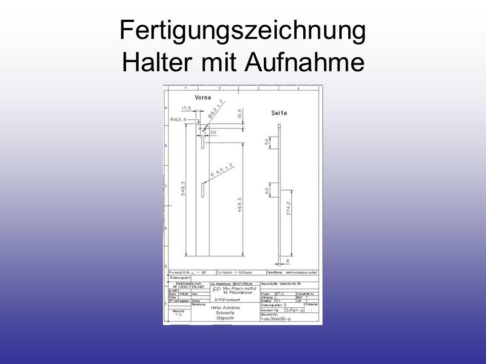 Fertigungszeichnung Halter mit Aufnahme