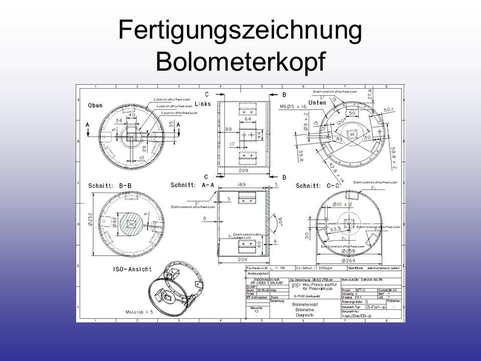 Fertigungszeichnung Bolometerkopf