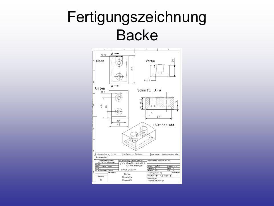 Fertigungszeichnung Backe