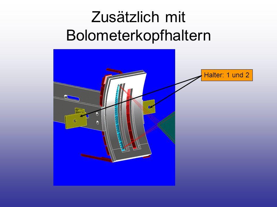 Fertigungszeichnung Halter (1 und 2) - Bolometerkopf
