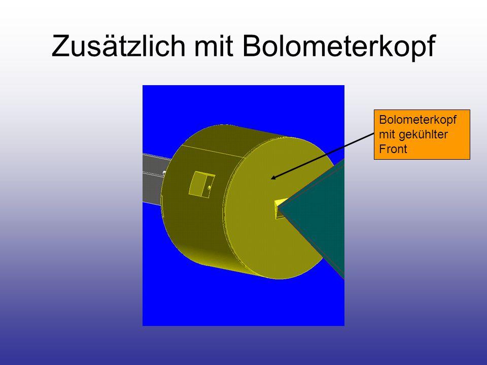 Zusätzlich mit Bolometerkopf Bolometerkopf mit gekühlter Front