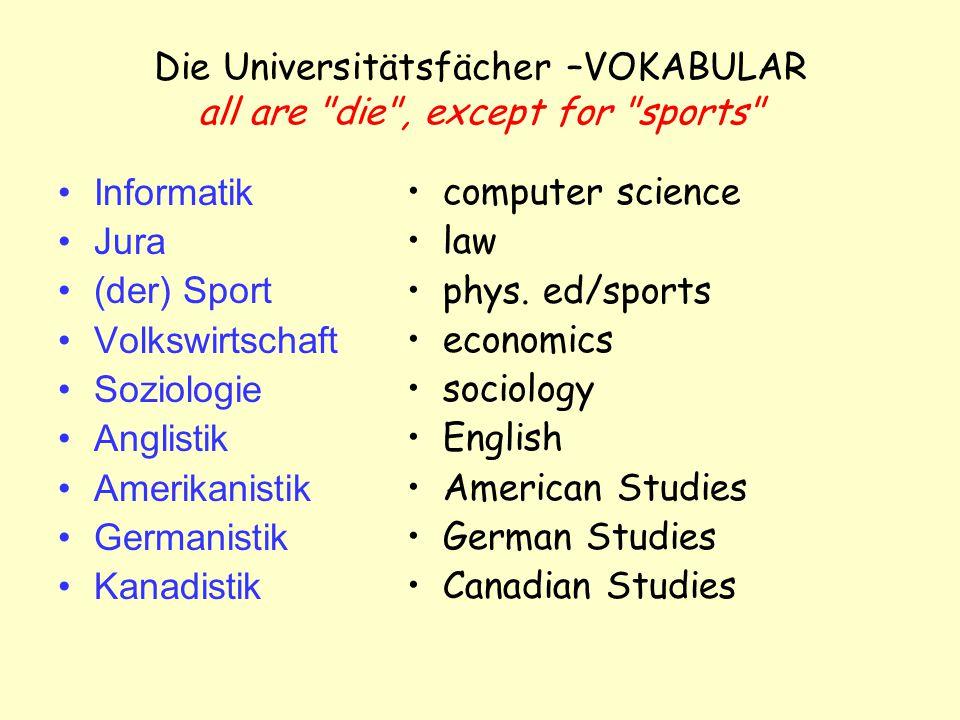 die Universität vs.