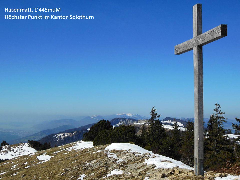 Hasenmatt, 1'445müM Höchster Punkt im Kanton Solothurn