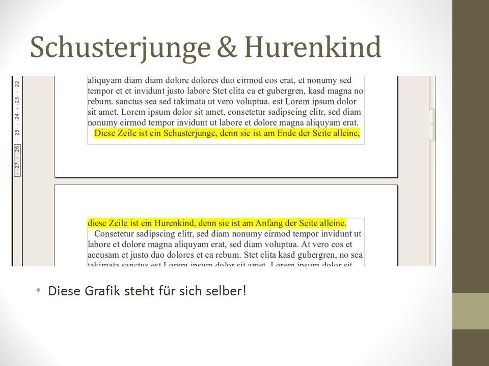 Schusterjunge & Hurenkind Diese Grafik steht für sich selber!