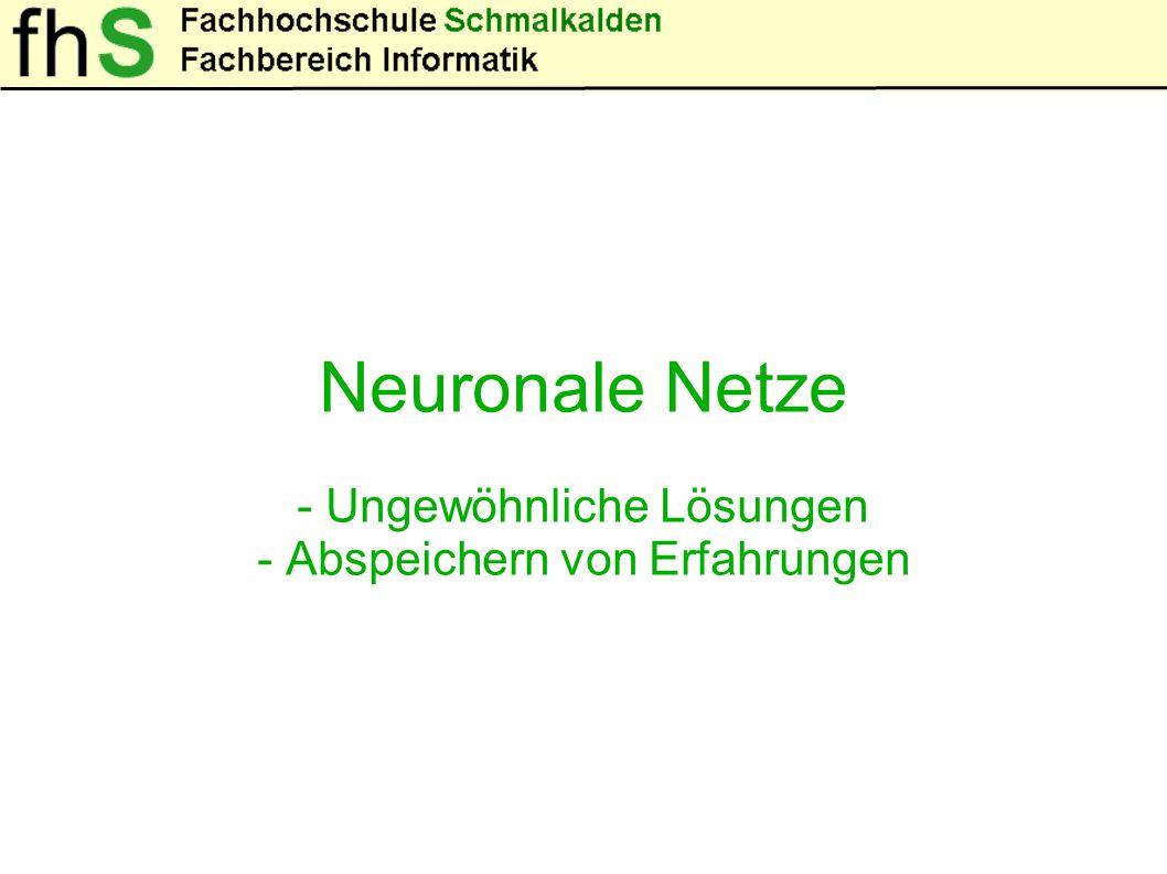 Natürliches Neuronales Netz Künstliches Neuronales Netz
