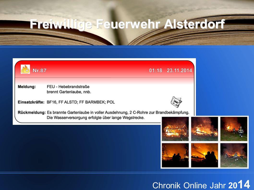 Freiwillige Feuerwehr Alsterdorf Chronik Online Jahr 20 14