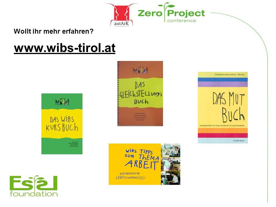 Wollt ihr mehr erfahren? www.wibs-tirol.at