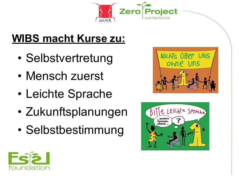 WIBS macht Kurse zu: Selbstvertretung Mensch zuerst Leichte Sprache Zukunftsplanungen Selbstbestimmung