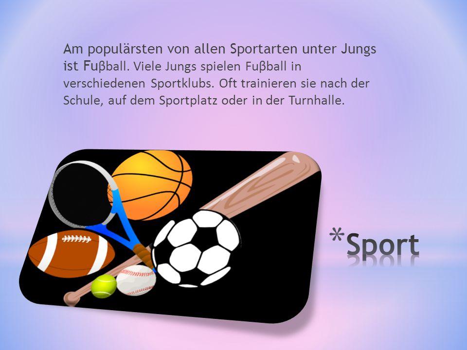 Unter den Mädchen die populärste Sportart ist Volleyball.