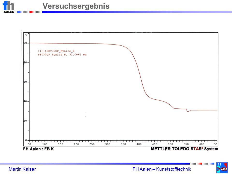 11 Martin Kaiser FH Aalen – Kunststofftechnik Versuchsergebnis