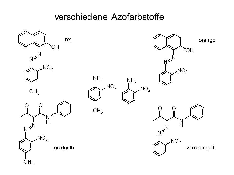 verschiedene Azofarbstoffe