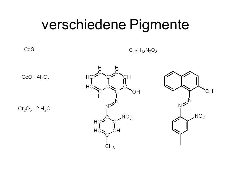 organische Pigmente anorganische Pigmente