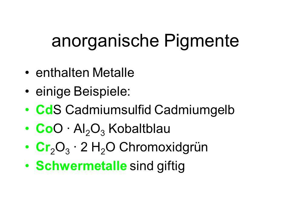 organische Pigmente