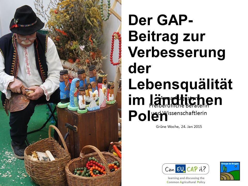 Einführung der GAP in Polen Enige Daten Projektbeispiele Fragezeichen für die GAP-Zukunft INHALT