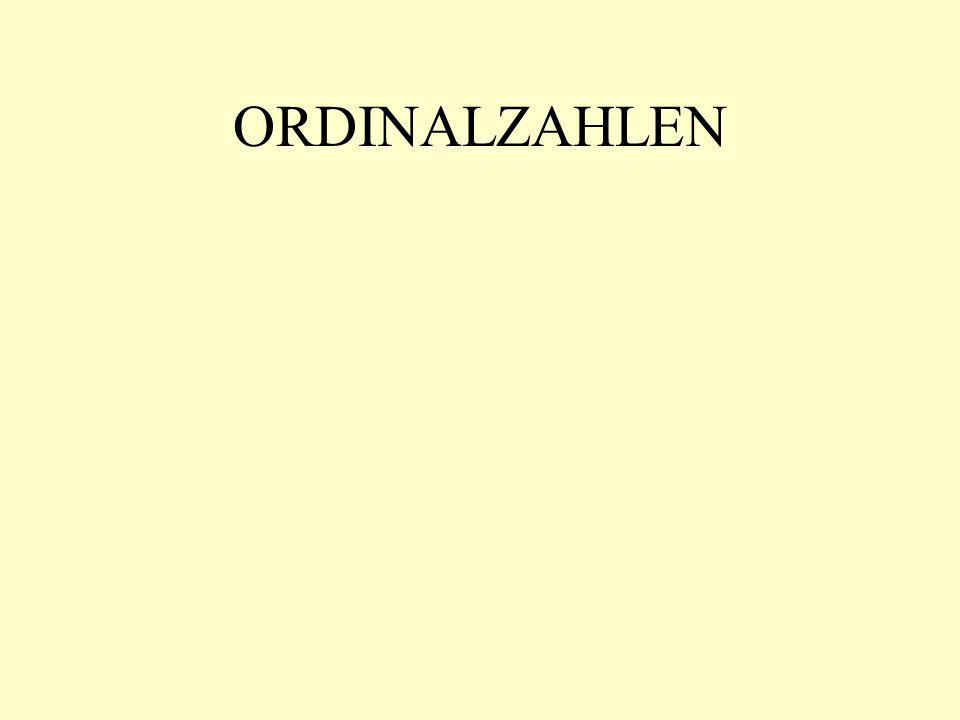 ORDINALZAHLEN