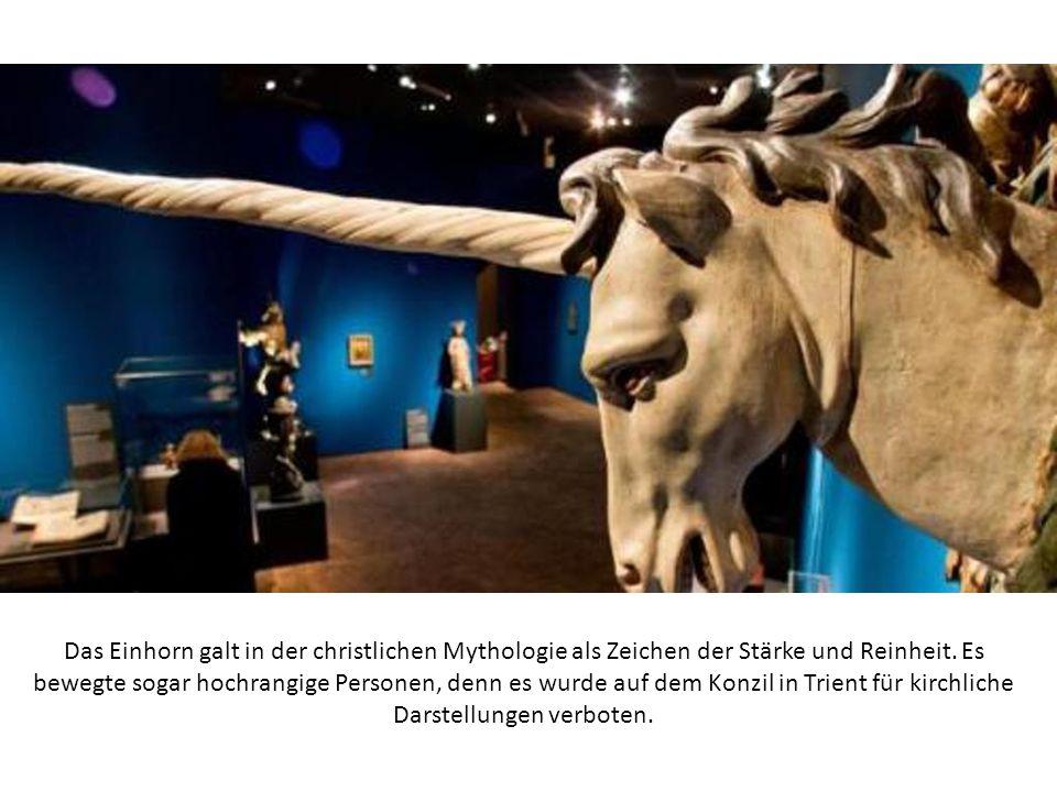 Das Einhorn galt in der christlichen Mythologie als Zeichen der Stärke und Reinheit.