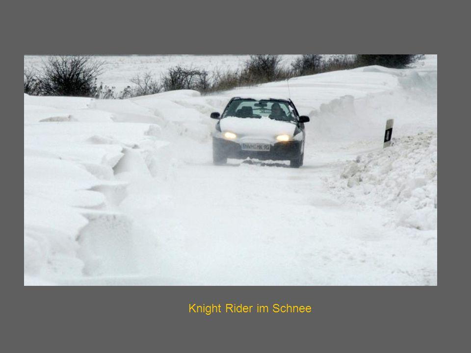 Knight Rider im Schnee