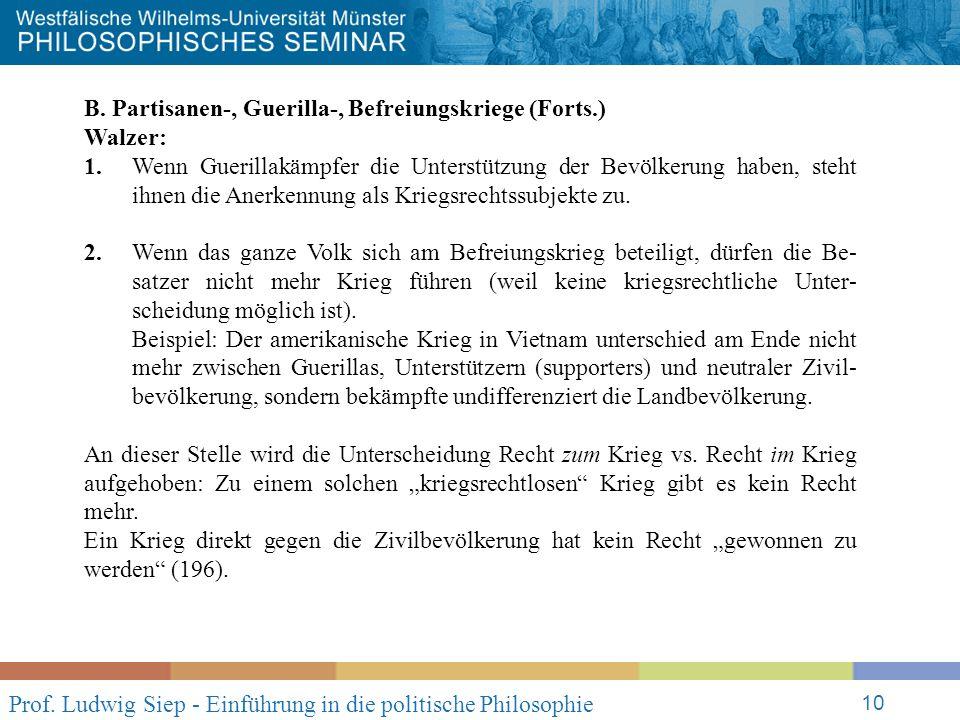 Prof. Ludwig Siep - Einführung in die politische Philosophie 10 B.
