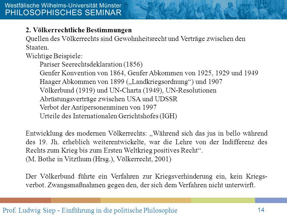 Prof. Ludwig Siep - Einführung in die politische Philosophie 14 2.