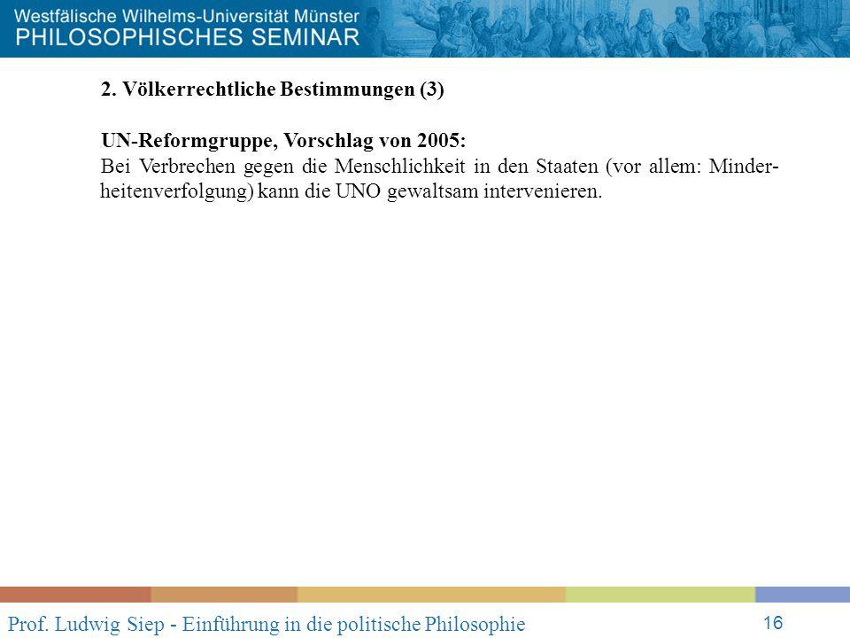 Prof. Ludwig Siep - Einführung in die politische Philosophie 16 2.