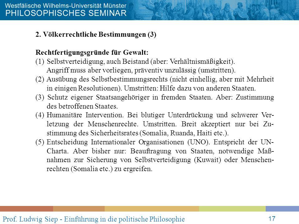 Prof. Ludwig Siep - Einführung in die politische Philosophie 17 2.