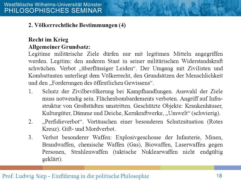 Prof. Ludwig Siep - Einführung in die politische Philosophie 18 2.
