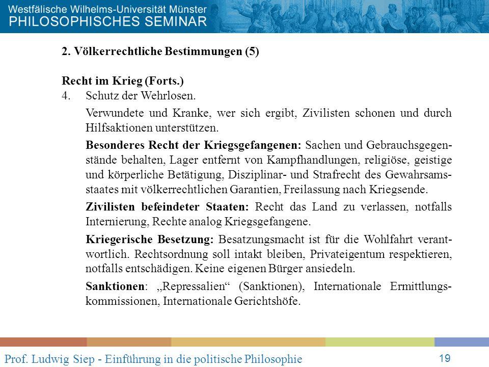 Prof. Ludwig Siep - Einführung in die politische Philosophie 19 2.