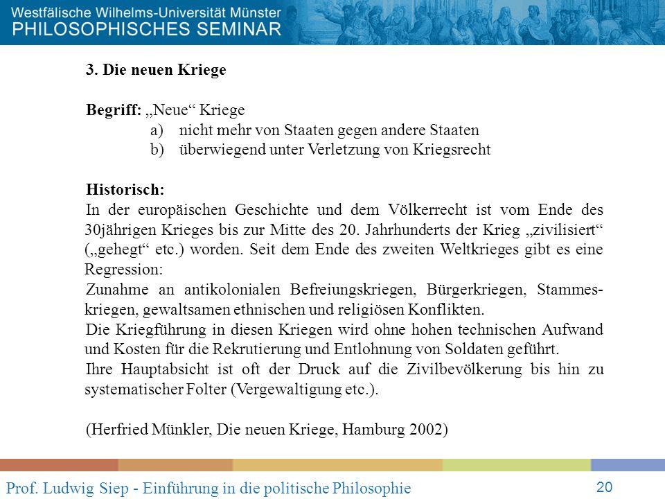 Prof. Ludwig Siep - Einführung in die politische Philosophie 20 3.