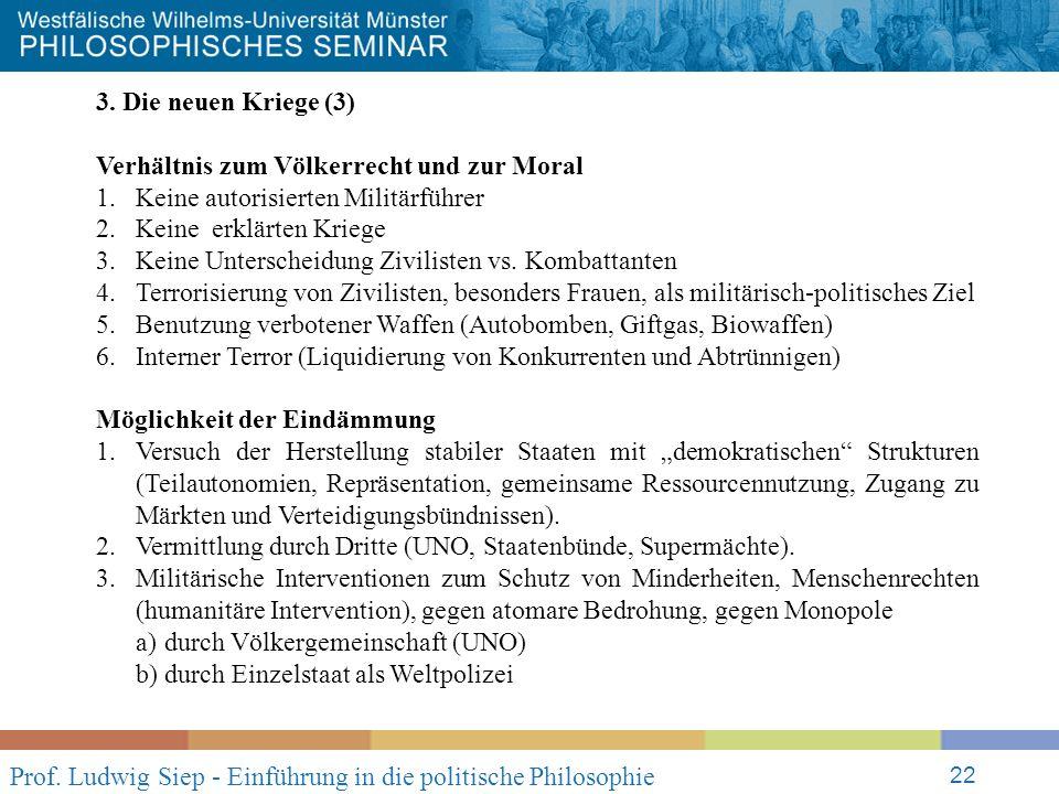 Prof. Ludwig Siep - Einführung in die politische Philosophie 22 3.