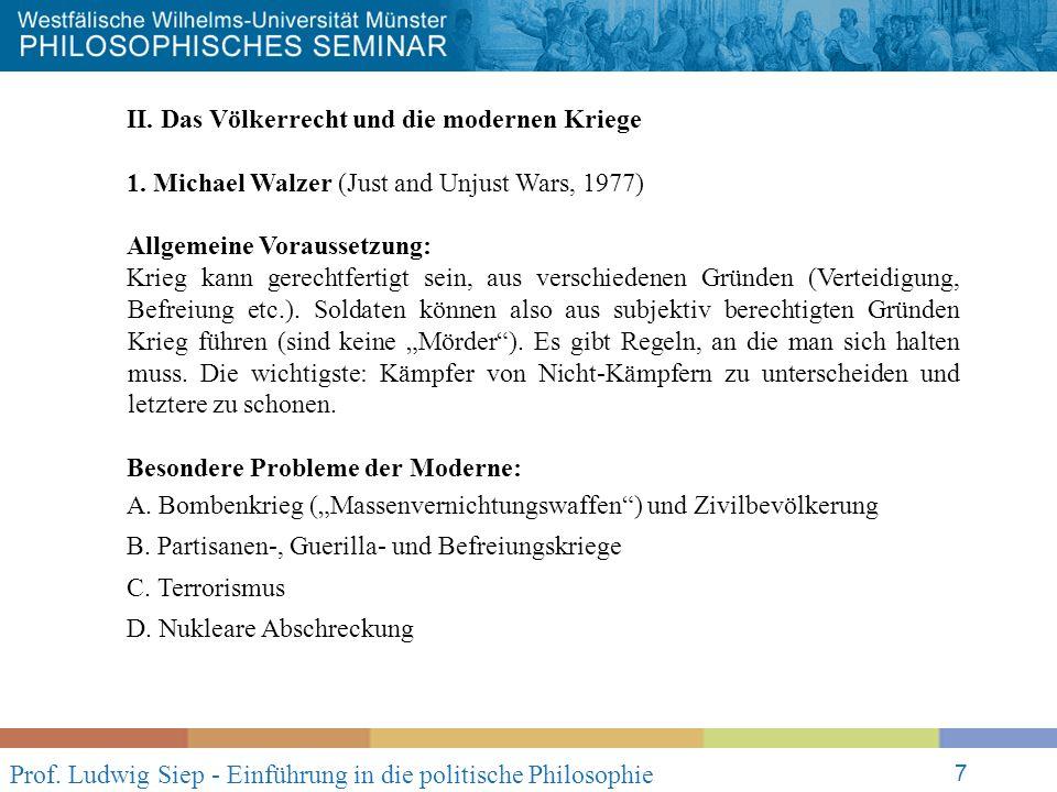 Prof. Ludwig Siep - Einführung in die politische Philosophie 7 II.