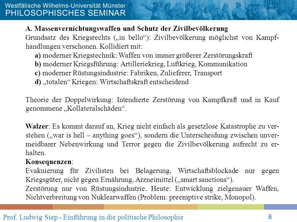 Prof. Ludwig Siep - Einführung in die politische Philosophie 8 A.