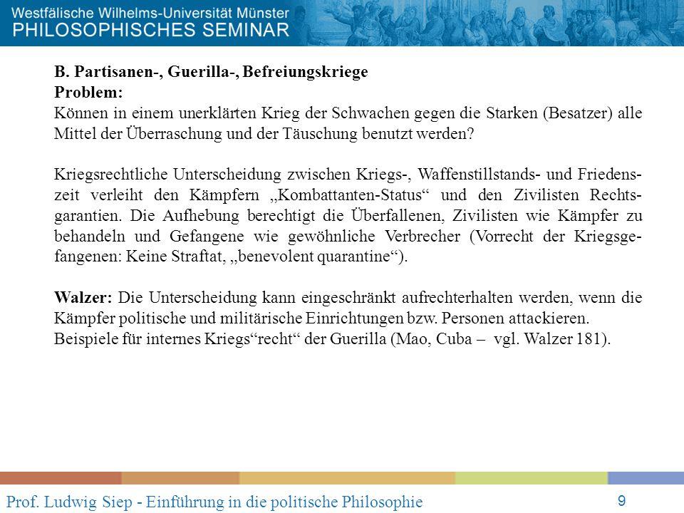 Prof. Ludwig Siep - Einführung in die politische Philosophie 9 B.