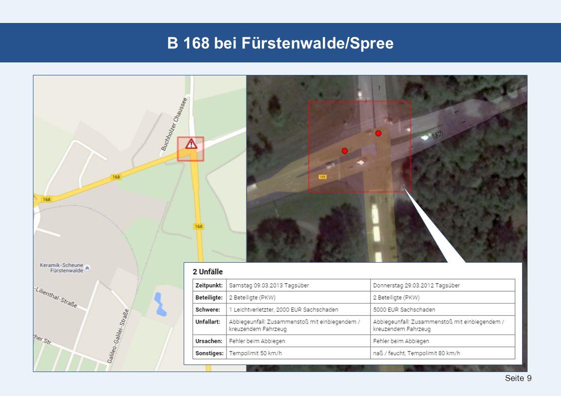 Seite 9 B 168 bei Fürstenwalde/Spree