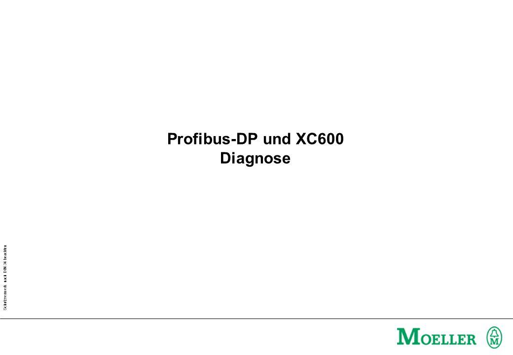 Schutzvermerk nach DIN 34 beachten Profibus-DP und XC600 Diagnose