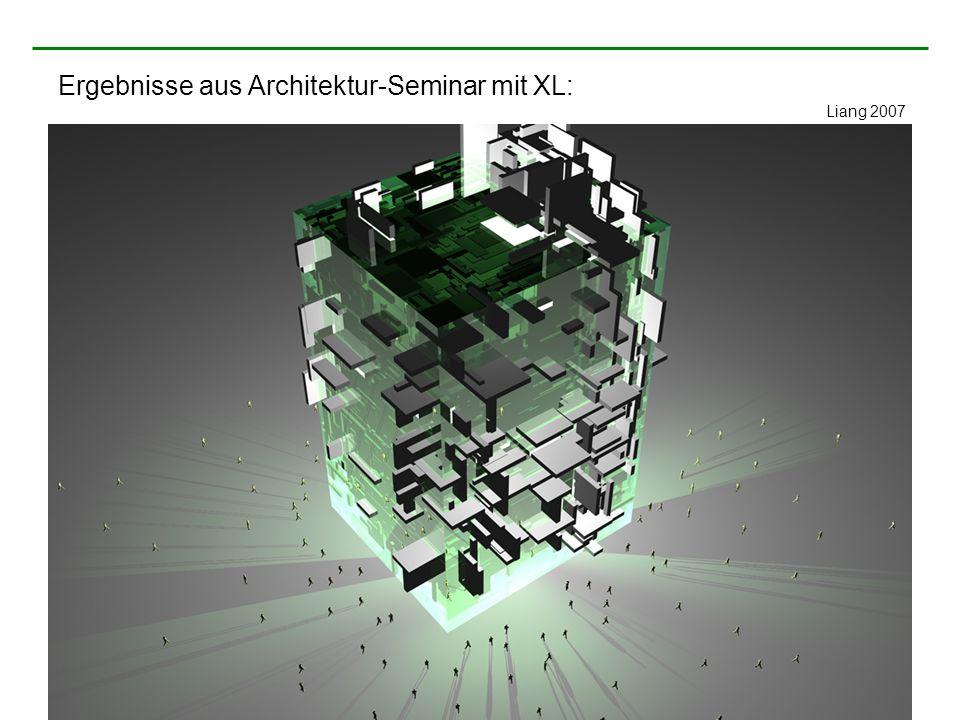 Ergebnisse aus Architektur-Seminar mit XL: Liang 2007