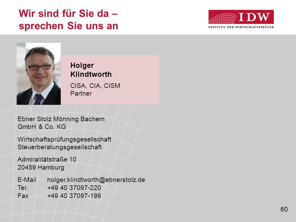 60 Wir sind für Sie da – sprechen Sie uns an Ebner Stolz Mönning Bachem GmbH & Co. KG Wirtschaftsprüfungsgesellschaft Steuerberatungsgesellschaft Admi