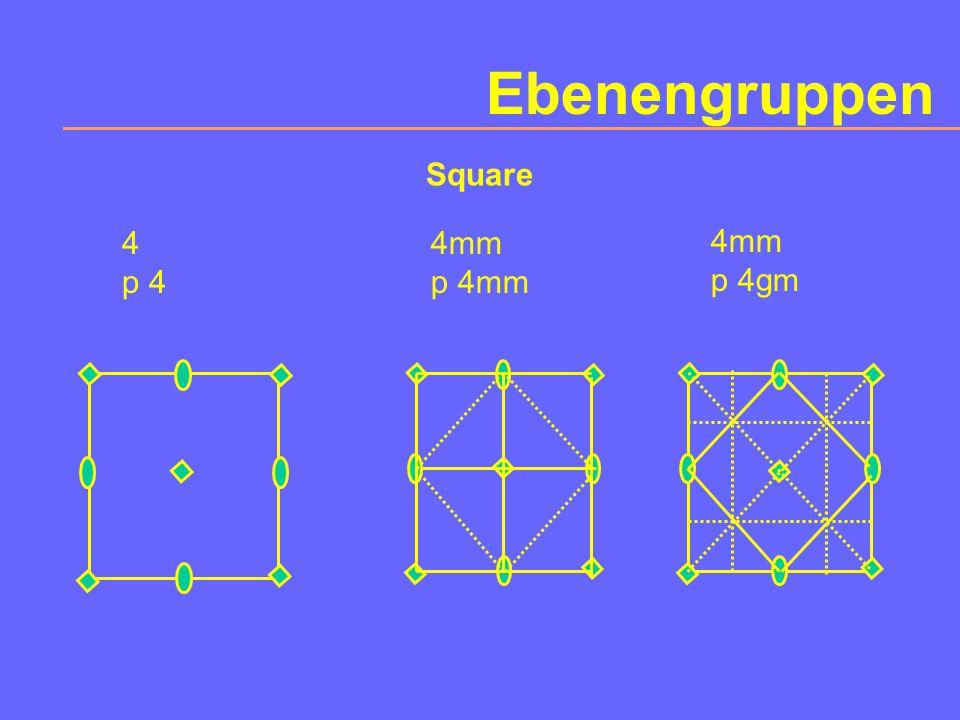 Ebenengruppen Rectangular m p 1m1 m p 1g1 m c 1m1 2mm p 2mm 2mm p 2gg 2mm p 2mg 2mm c 2mm