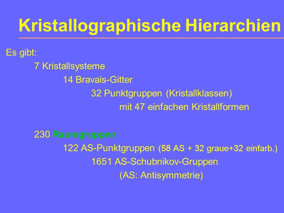 """Kapitel 10: 10.1Kristallographische Gruppen 10.2Raumgruppen (eine detaillierte Vorstellung kann und soll nicht Thema einer """"Einführung in die Kristallographie sein) 10.3Ebenengruppen 10.4Bandgruppen Raumgruppen"""