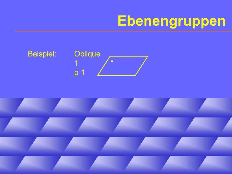 Ebenengruppen Beispiel:Oblique 1 p 1
