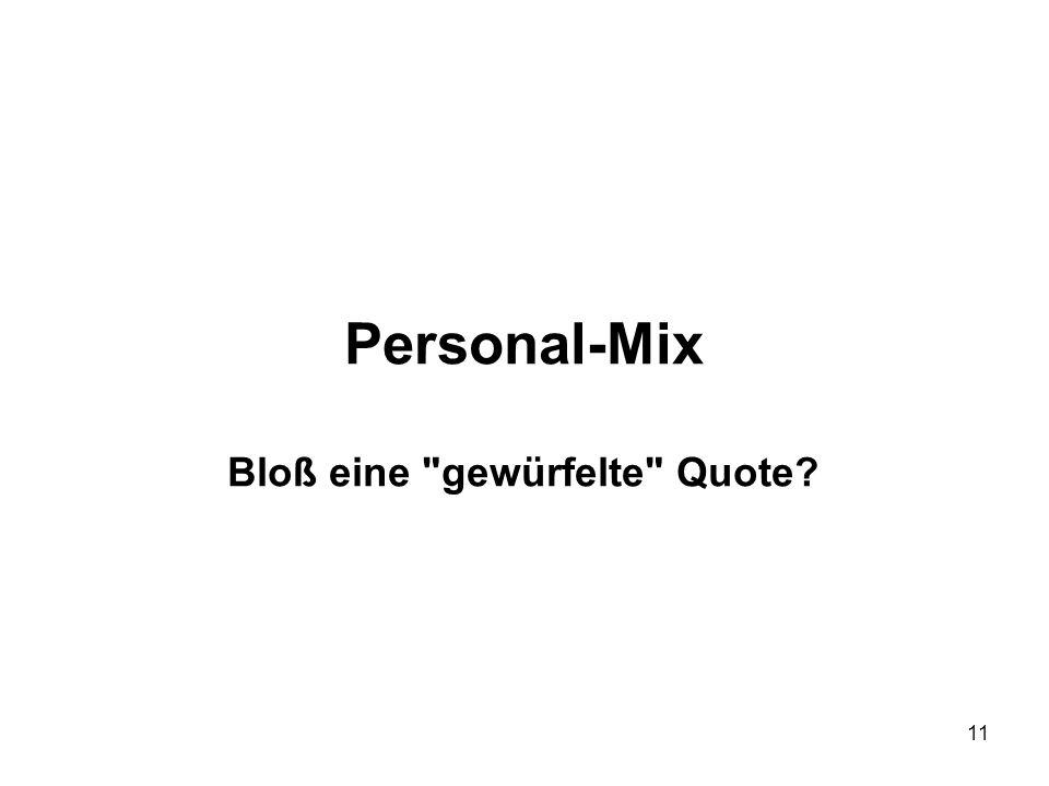 11 Personal-Mix Bloß eine
