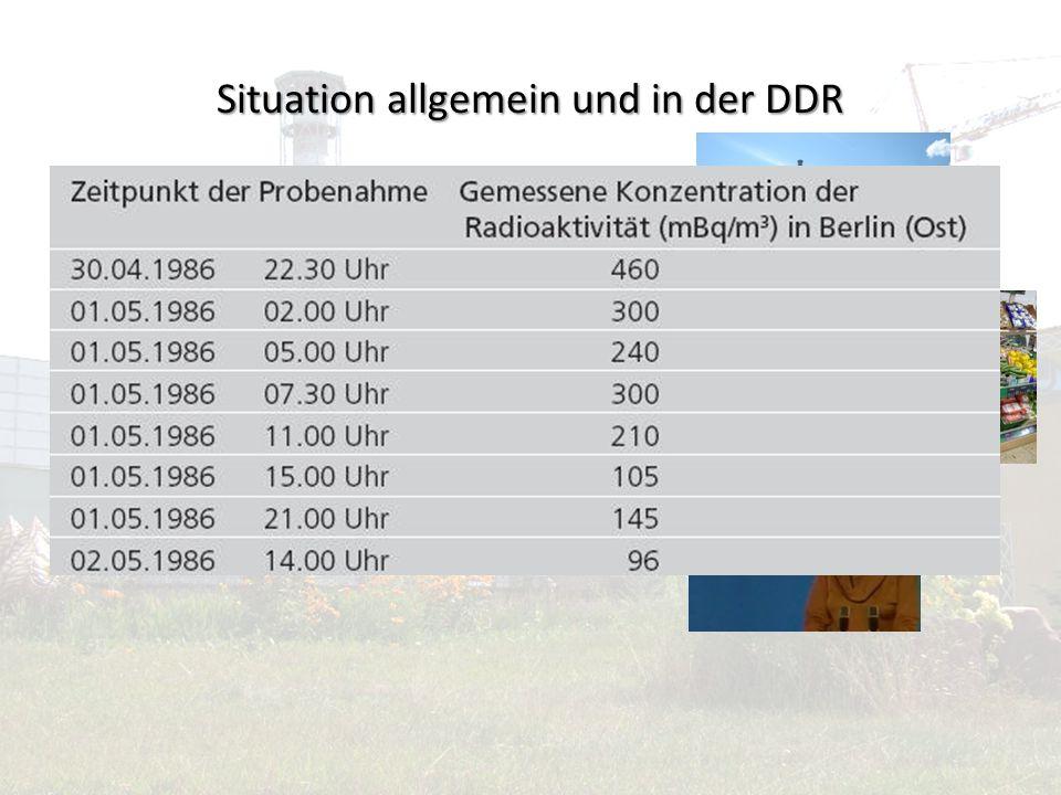 Situation allgemein und in der DDR komplett geheim halten schwedische Wissenschaftler Obst und Gemüse Verunsicherung Ablenkung Störpotenziale vermeide