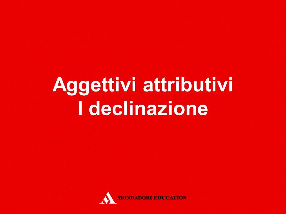 Definizione L'aggettivo può avere funzione attributiva o predicativa.